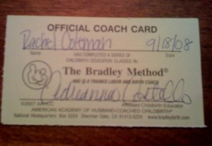 Official Coach Card
