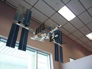 This is a real model of the space station, but not THE real space station
