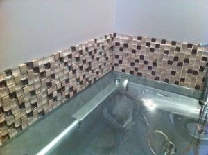 and - Utility Sink Backsplash